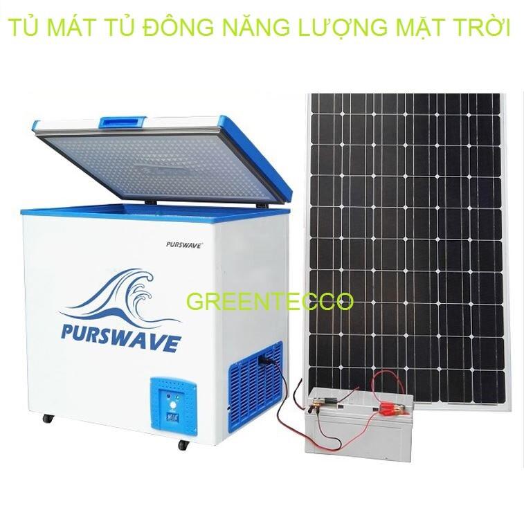Tủ mát tủ đông năng lượng mặt trời 12V24V 208 lít