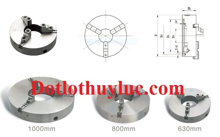 Mâm cặp 3 chấu K11-800 đường kính lớn 800mm