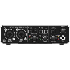 Card âm thanh Behringer U-PHORIA UMC202HD - USB 2.0 Audio Interface