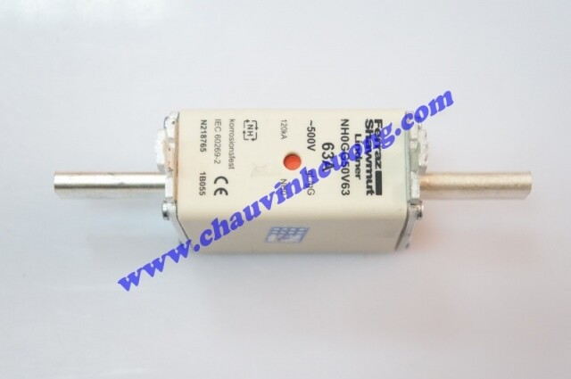Cầu chì 500V 63A Ferraz Shawmut NH000GG50V63