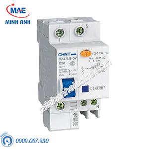 Cầu dao chống rò MCB Chint 30mA - 6kA - Model DZ47LE-1P+N (40A)
