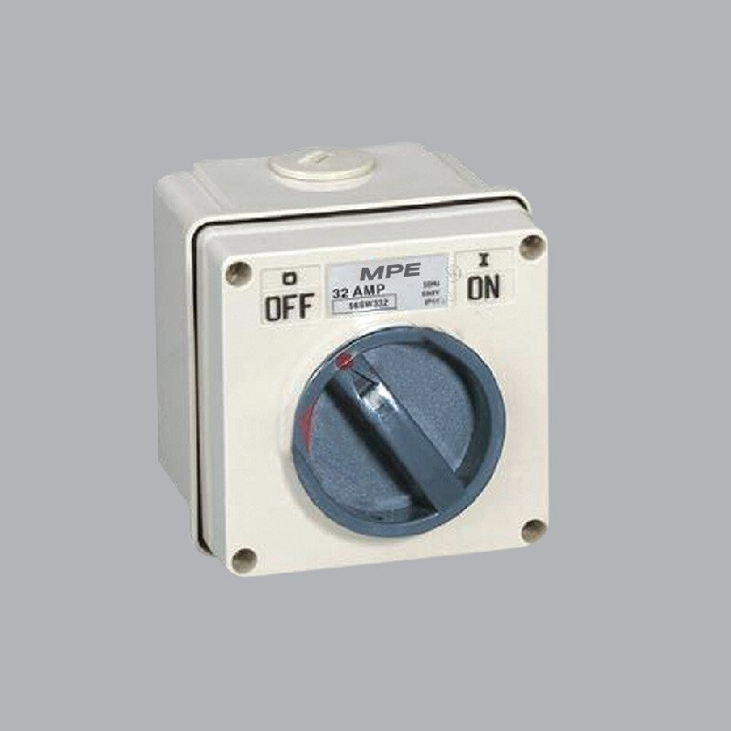Cầu dao chống thấm nước 3P, 63A, 500V, IP66 -SW-363