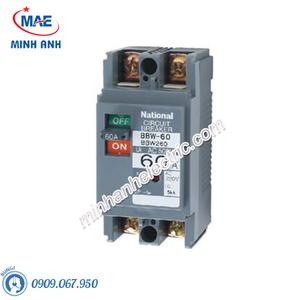 Cầu dao đóng ngắt mạch điện MCCB 2P 60A 5KA 200VAC - BBW260Y