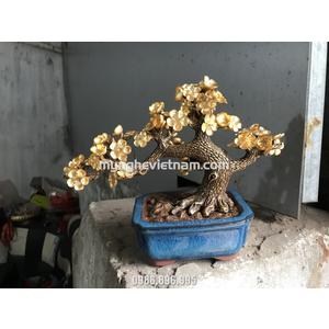 Cây mai mạ vàng 24k làm quà tặng để bàn và quà tết