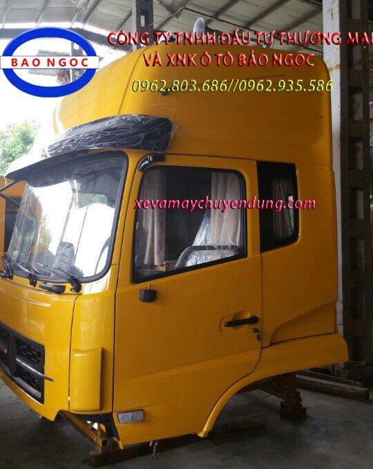 Cabin xe dongfeng nóc thấp, nóc cao 2 giường nằm, xe đầu kéo, xe tải thùng
