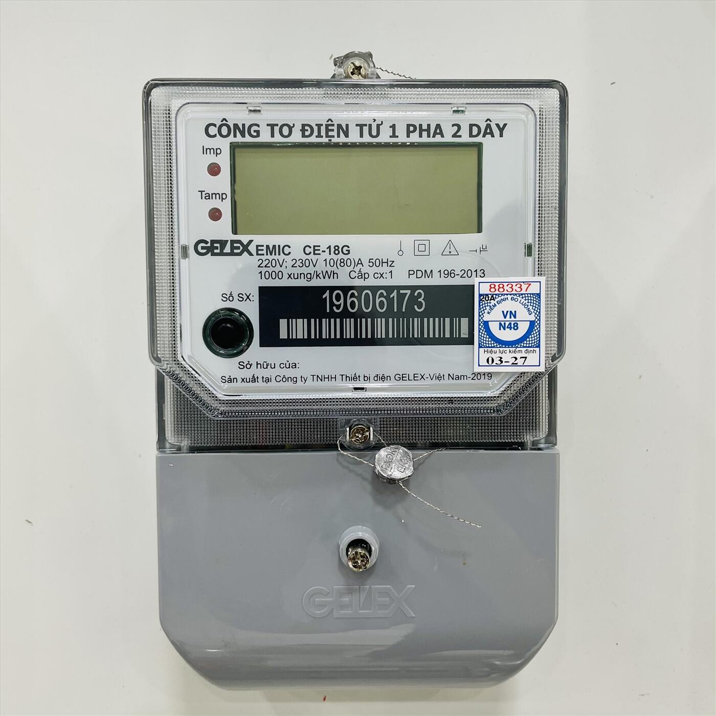 CÔNG TƠ ĐIỆN TỬ 1 PHA EMIC CE-18G