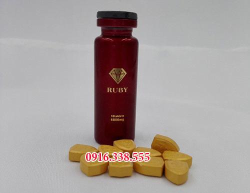 Thuốc thảo dược Ruby Viagra 6800 mg Cương Dương dạng thảo dược