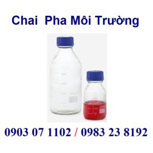 Chai thủy tinh pha môi trường
