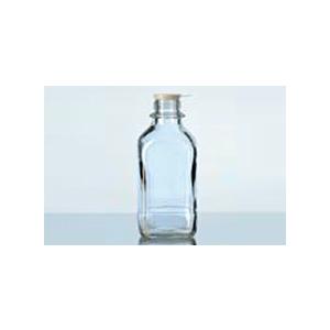 Chai vuông cổ vặn miệng hẹp với nắp vặn chuẩn thủy tinh soda-lime - DURAN