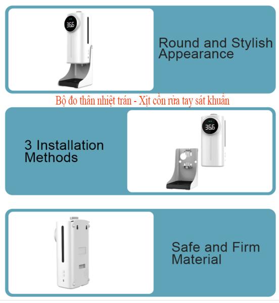 Máy đo thân nhiệt tích hợp 2 cảm biến cho kết quả chính xác tuyệt đối