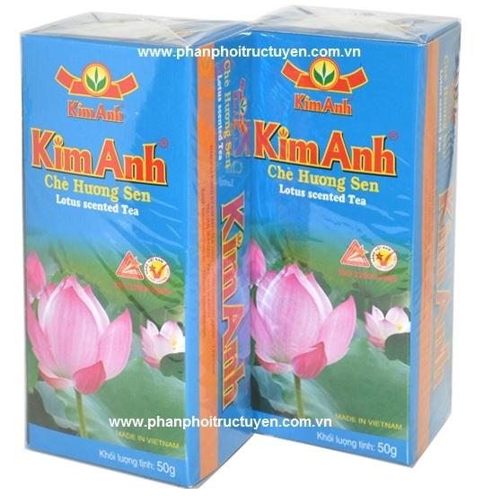 Chè-Trà Sen Kim Anh( 25 túi/Hộp)