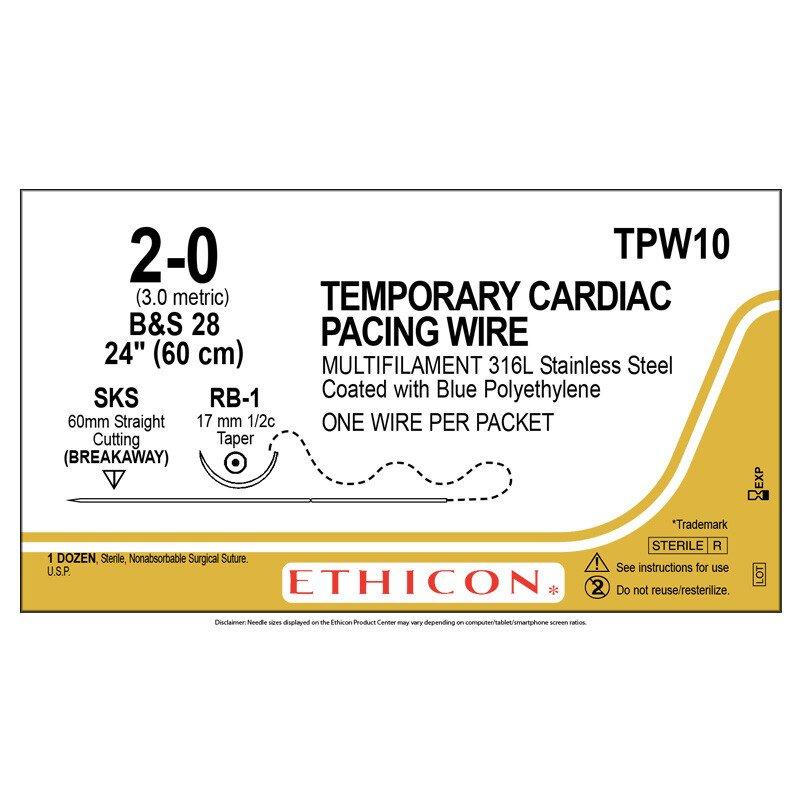 Chỉ điện cực Temporary Cardiac Pacing Wire 2-0 TPW10