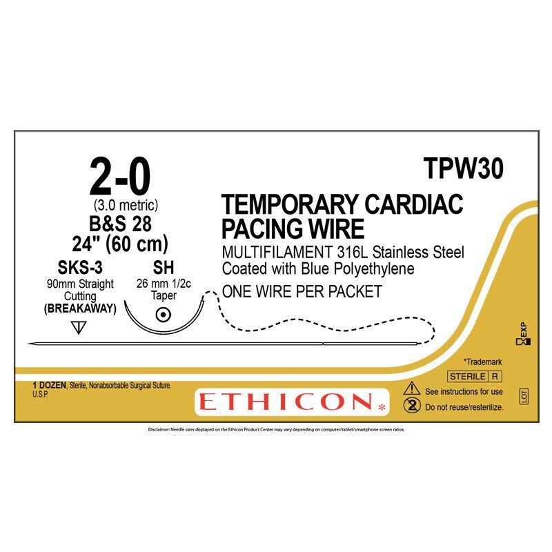 Chỉ điện cực Temporary Cardiac Pacing Wire 2-0 TPW30