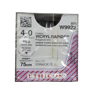 Chỉ phẫu thuật Vicryl Rapide 4-0 (tam giác) W9922