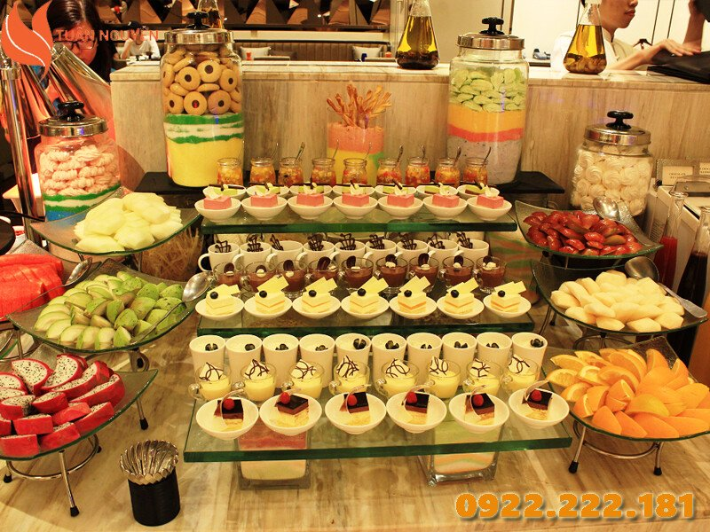 Cho thuê dụng cụ tiệc buffet - dụng cụ tiệc teabreak giá rẻ, uy tín