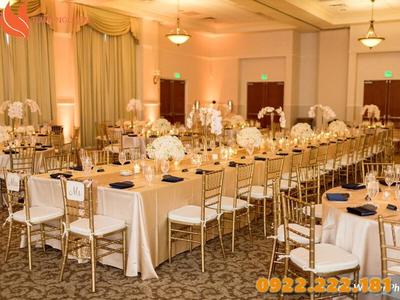 Cho thuê ghế Tiffany, Chiavari màu champagne giá rẻ - Giá chỉ từ 55.000đ