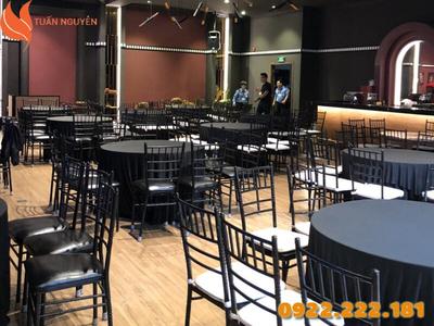 Cho thuê ghế Tiffany, Chiavari màu đen giá rẻ - Giá chỉ từ 55.000đ