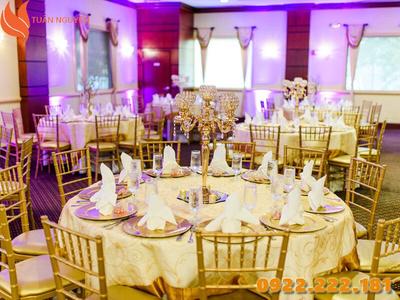 Cho thuê ghế Tiffany, Chiavari màu vàng giá rẻ - Giá chỉ từ 55.000đ