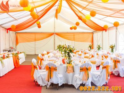 Cho thuê nhà bạt không gian tổ chức đám cưới, sự kiện