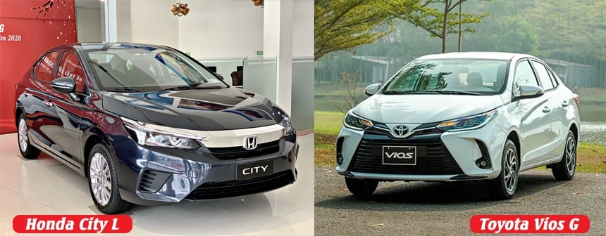 Chọn City 1.5 L hay Toyota Vios bản G