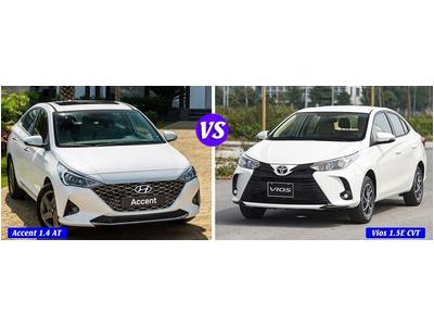 Tầm giá 550 triệu: Chọn Hyundai Accent bản đặc biệt hay Vios E bản tự động