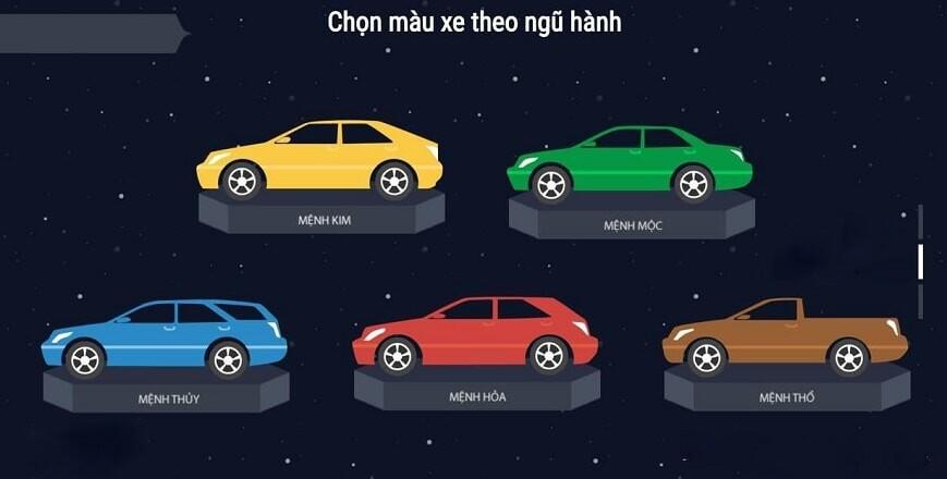Chọn màu ô tô theo phong thủy
