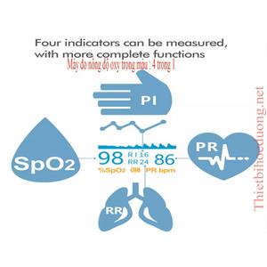 Máy SpO2 đo nồng độ oxy trong máy 4 chức năng