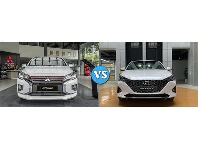 Chọn Mitsubishi Attrage CVT Premium hay Hyundai Accent 1.4 AT tiêu chuẩn