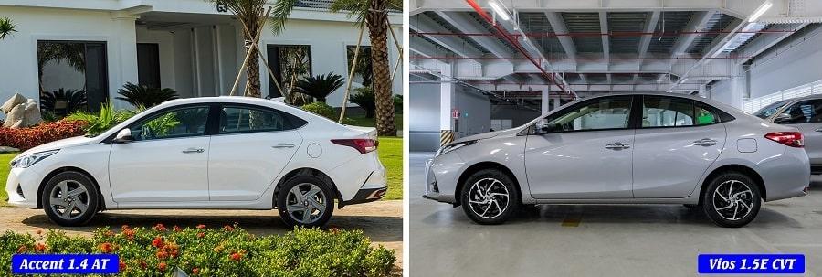 Chọn Toyota Vios E CVT hay Hyundai Accent AT đặc biệt giá 550 triệu