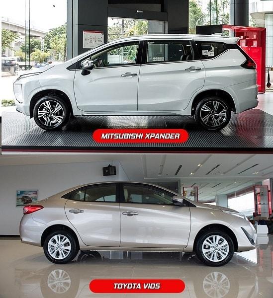 Chọn xe ô tô Toyota Vios hay Mitsubishi XPander