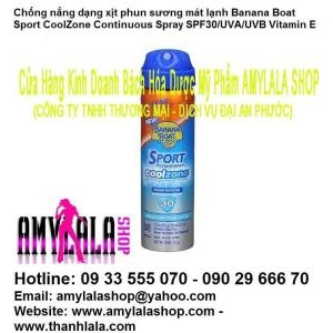 Chống nắng xịt Banana Boat® Sport Coolzone SPF30 UVA/UVB (Made in USA) 0933555070 - 0902966670