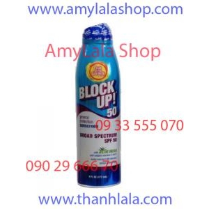 Xịt chống nắng trắng da Block Up!® Broad Spectrum Sunscreen SPF50 - 0933555070 - 0902966670