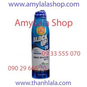 Xịt chống nắng trắng da Block Up!® Broad Spectrum Sunscreen SPF70 - 0933555070 - 0902966670