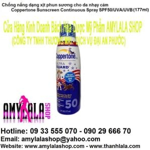 Chống nắng xịt Coppertone Ultraguard™ SPF 50 UVA/UVB 177ml (Made in USA) 0933555070 - 0902966670