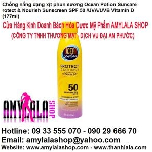 Chống nắng xịt Ocean Potion Protect & Nourish SPF50 with Vitamin D3™ Fortified 177ml - 0933555070