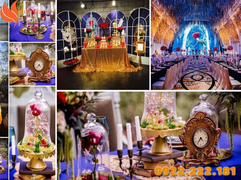 Trang trí tiệc cưới theo chủ đề Beauty and the Beast
