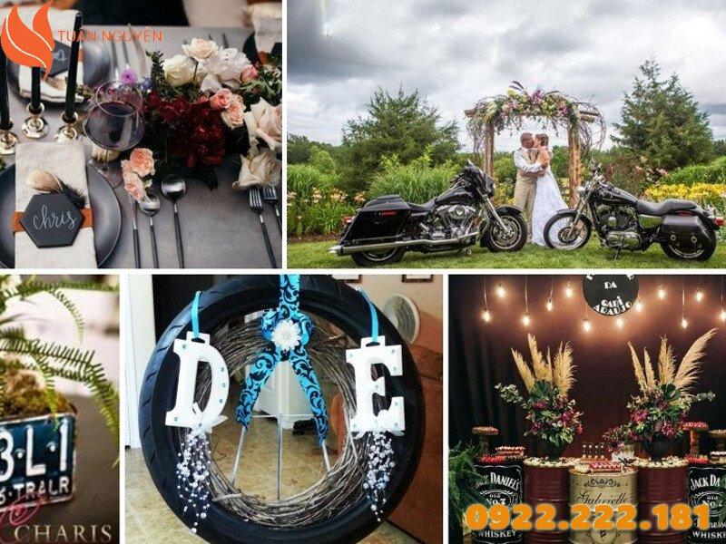 Trang trí tiệc cưới theo chủ đề Motorcycle