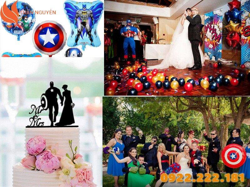 Trang trí tiệc cưới theo chủ đề Superhero