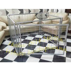 Chuồng chó lưới thép 1.2x1.2x0.9m (DxRxC)