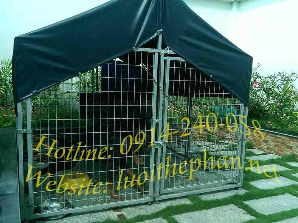 Chuồng chó lưới thép 1.8x1.8x1.2m (DxRxC) có bạt che