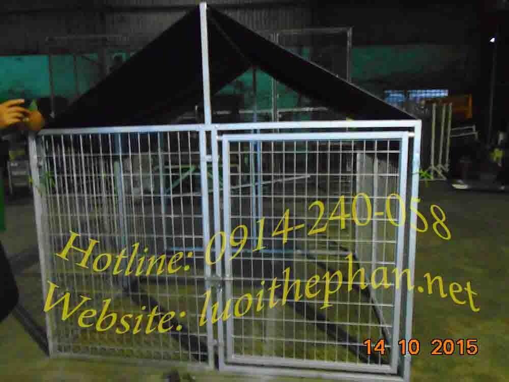 Chuồng chó lưới thép 1.8x1.8x1.2m (DxRxC) không bạt che