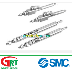 Pneumatic cylinder / single-acting with return spring / double-acting / round | CJ1 series|SMC Pneum