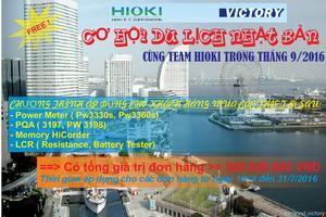 Cơ hội đi du lịch miễn phí cùng Team HIOKI
