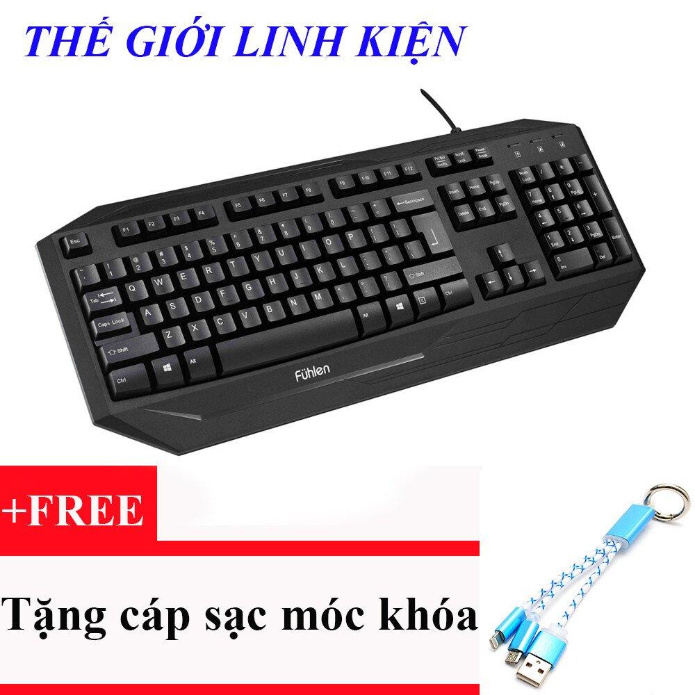 Bàn phím game có dây fuhlen G450S (đen)