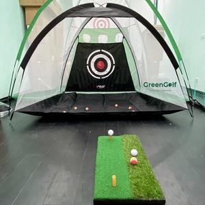 Combo Lồng Tập Golf PGM + Thảm Swing Nhỏ/ Bộ Tập Swing Golf Tại Nhà Giá Rẻ/ Tặng 3 Bóng Golf Xốp/ 2 Màu Sắc Xanh/Đen
