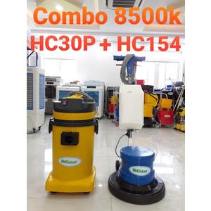 Combo máy chà sàn HC154 máy hút 30lit HC30P