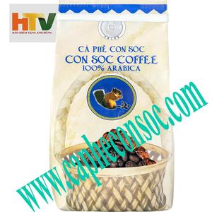 Cà phê hạt Con Sóc Arabica - 200gr