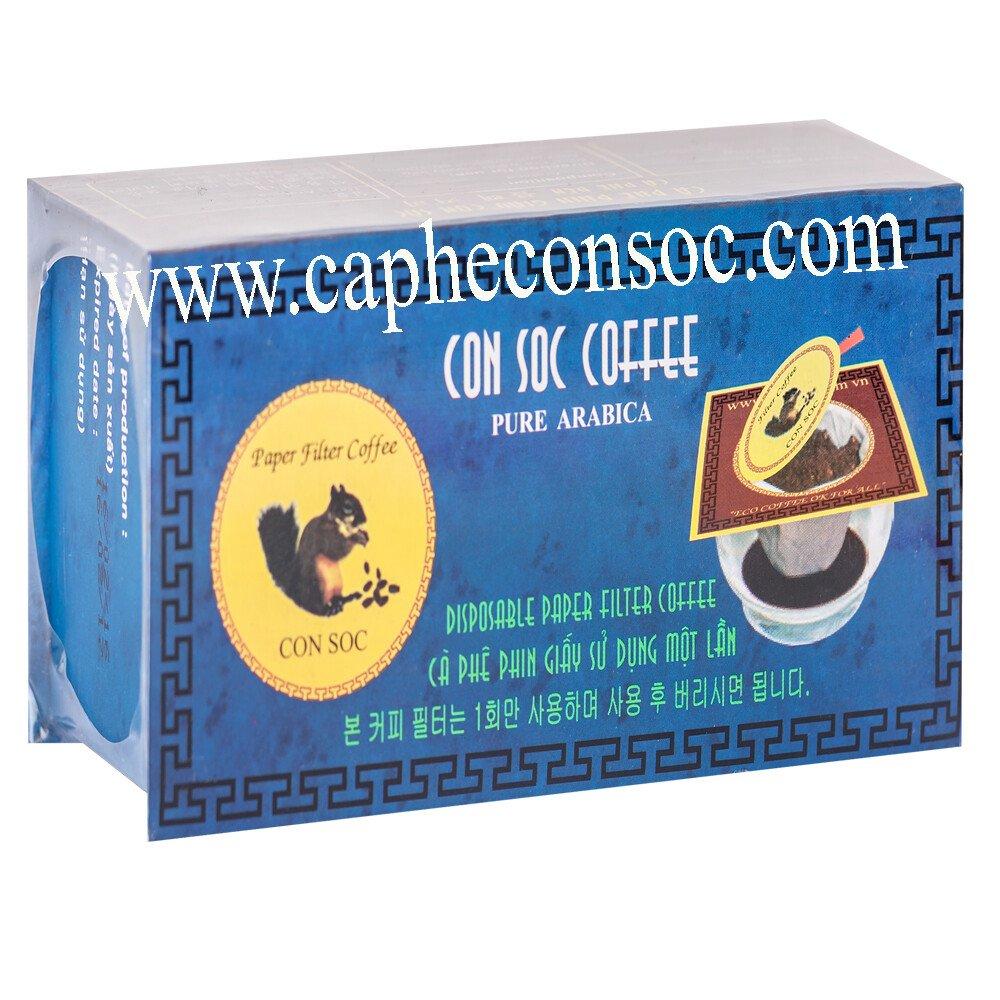 Cà phê Con Sóc phin lọc hộp XANH