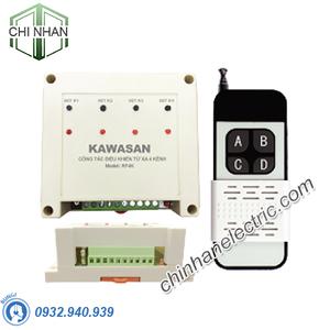 Công Tắc Điều Khiển Từ Xa 4 Kênh 220V - RF4K-RM4B (500W/kênh) - KAWASAN