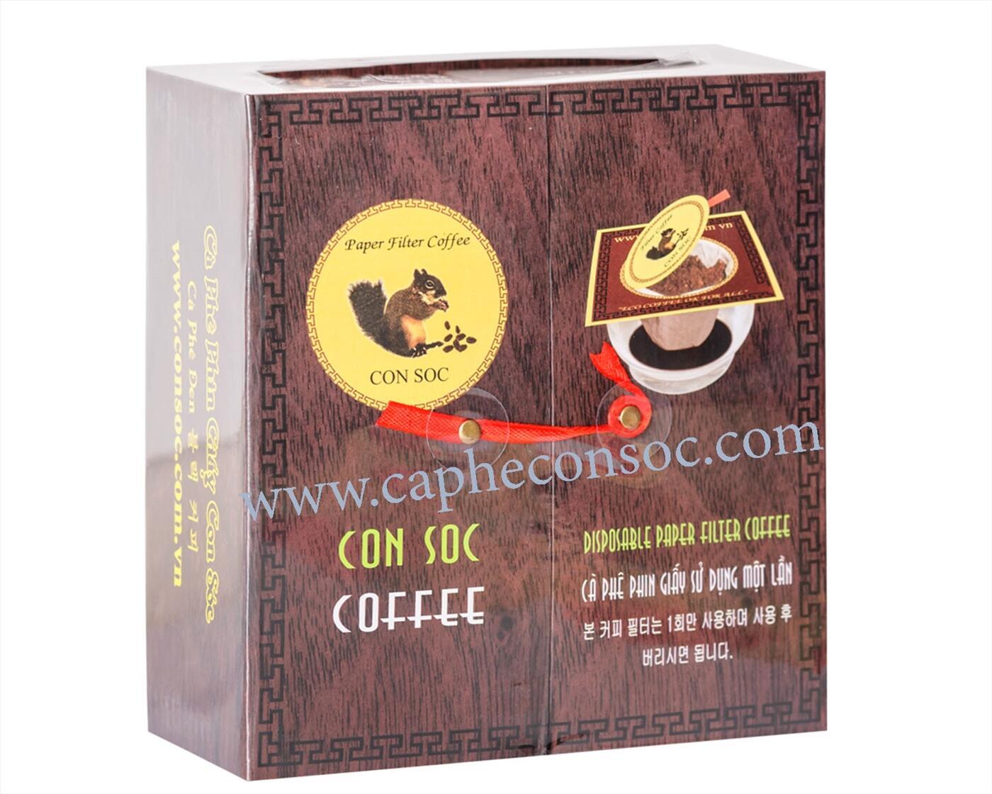 Cà phê Con Sóc phin lọc ĐÔI ĐEN